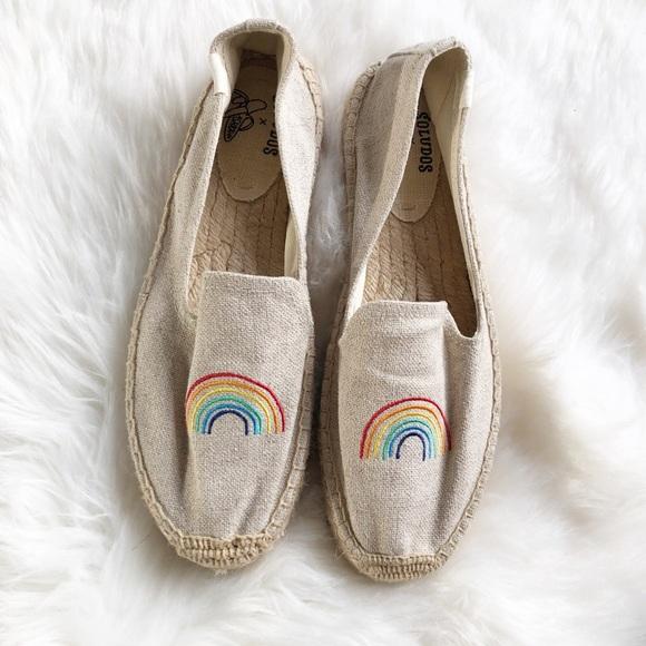 f58ec03626b Soludos rainbow espadrille loafers platform Sz 10.  M 5bd769fa6197452b0bea8467